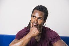 Free Handsome Doubtful Black Man Thinking Stock Photos - 99073733