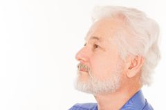 Handsome elderly man with beard Stock Photography
