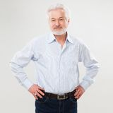 Handsome elderly man with beard Stock Images