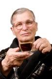 Handsome elderly man drinking coffee Royalty Free Stock Photos