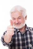 Handsome elderly man with grey beard Stock Photos