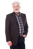 Handsome elderly man with grey beard Stock Images