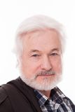 Handsome elderly man with grey beard Royalty Free Stock Image