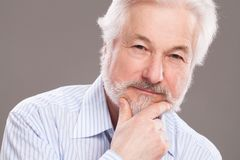Handsome elderly man with grey beard Stock Photo