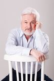 Handsome elderly man with grey beard Stock Photos