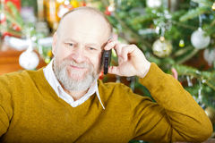 Handsome elderly man Stock Photos