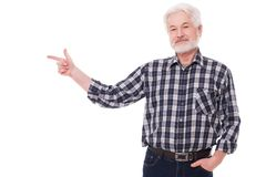 Handsome, elderly man Royalty Free Stock Photography