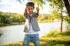 Handsome elegant boy stock photography
