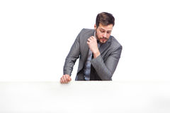 Handsome elegant man looking down Royalty Free Stock Images