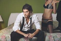 Handsome elegant man Stock Image