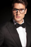 Handsome elegant man wearing glasses. Royalty Free Stock Image