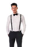 Handsome elegant young man with business suit Royalty Free Stock Photography