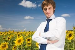 Handsome employer Royalty Free Stock Images