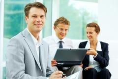 Handsome employer Stock Image