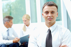 Handsome employer Stock Photos