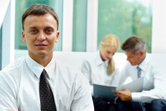 Handsome employer Stock Images