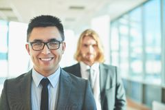 Handsome employer Royalty Free Stock Image