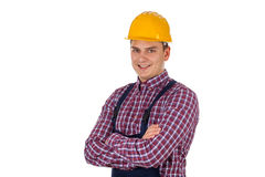 Handsome engineer with arms crossed Royalty Free Stock Image