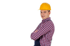Handsome engineer with arms crossed Stock Images