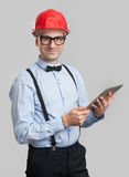Handsome engineer with digital tablet Stock Image
