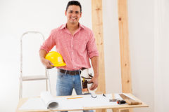 Handsome engineer at work Stock Images