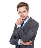 Handsome European businessman Royalty Free Stock Image