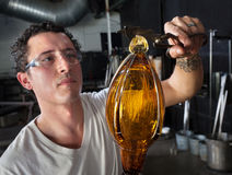 European Glass Art Student Working Stock Image