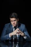 Handsome evil boss Stock Image