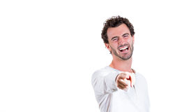 Handsome excited happy man Stock Photo
