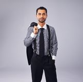 Handsome Executive in Copyspace Royalty Free Stock Photos