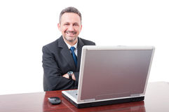 Handsome executive director on his desk Royalty Free Stock Photo