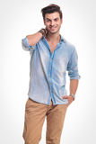 Handsome fashion man smiling at the camera Royalty Free Stock Photography