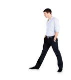 Handsome fashion Man standing over white Royalty Free Stock Image