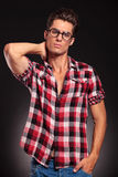 Handsome fashion man wearing glasses Stock Photography