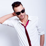 Handsome fashion model man Royalty Free Stock Image
