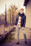 Handsome fashionable man outdoor Royalty Free Stock Photo