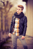 Handsome fashionable man outdoor Royalty Free Stock Images