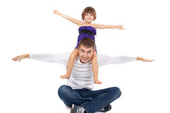 Handsome father with his little daughter Royalty Free Stock Image