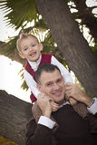 Handsome Father and Son in the Park Royalty Free Stock Photos