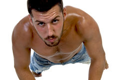 Handsome fellow at workout Stock Photography