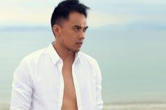 Handsome filipino posing Stock Photos