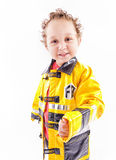 Handsome firefighter Royalty Free Stock Photo