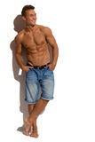 Handsome Fit Male Model In Sunlight Royalty Free Stock Photography