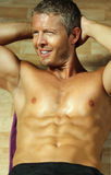 Handsome fitness model Stock Images