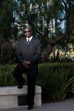 Handsome forties black man. In suit Stock Photo