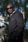 Handsome forties black man. In suit Stock Images