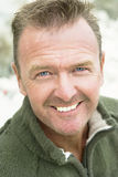 Handsome forties man with stubble. Royalty Free Stock Photography