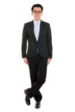 Handsome full body Asian business man Royalty Free Stock Photos