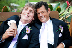 Handsome Gay Men on Wedding Day Stock Photography