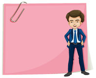 A handsome gentleman standing in front of the pink signage Royalty Free Stock Photos